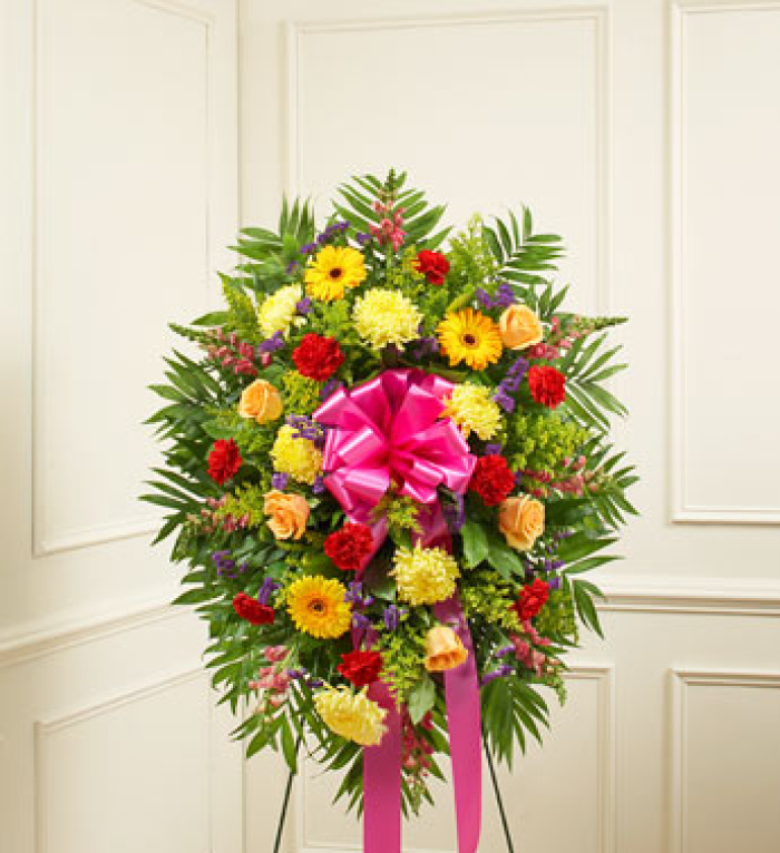 Bright Sympathy Standing Spray