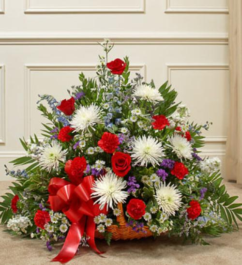 Red, White, and Blue Mixed Fireside Basket