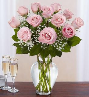 Rose Elegance Premium Long Stem Pink Roses
