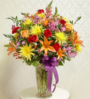 Bright Sympathy Vase Arrangement