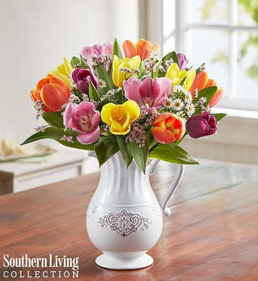 Fresh Spring Tulip Pitcher by Southern Living