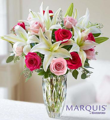 Marquis by Waterford Rose and Lily Bouquet